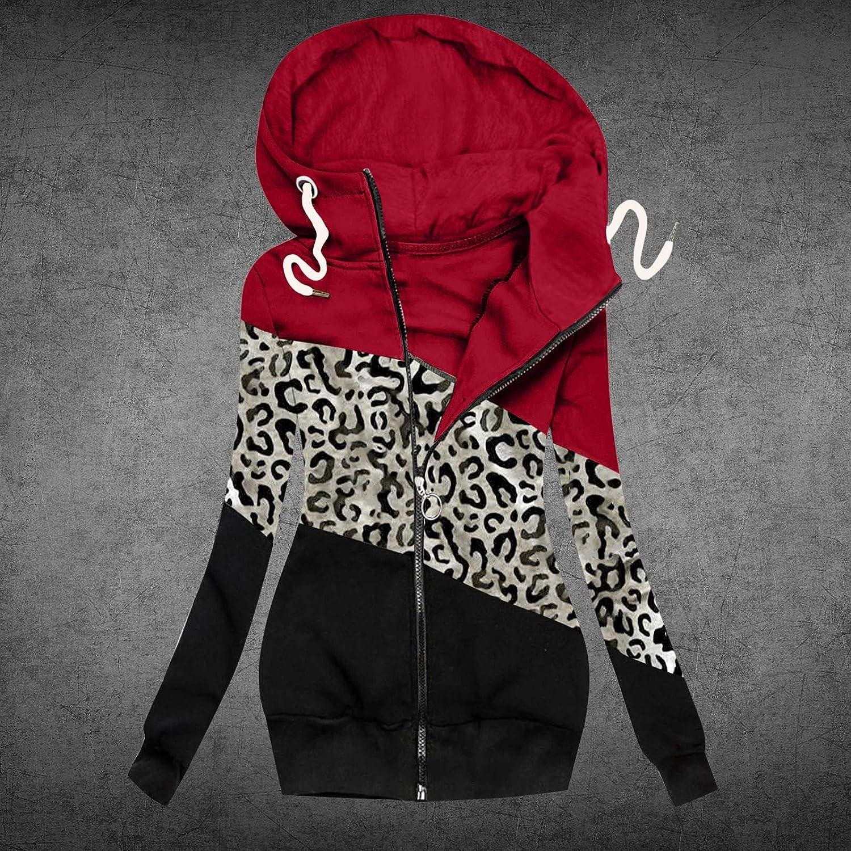 ZahuihuiM Damen Winter Jacke lang Kapuzenjacke Blumendruck Jacke Reißverschluss Tasche Mantel Winterjack Sweatshirt Steppjacke Parka Mantel Outdoorjacke Parka Jacke G-rot