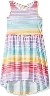 Girls' Big Braided Back Graphic High Low Dress