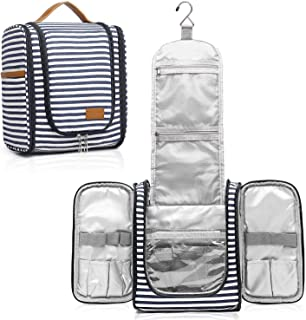Hanging Travel Toiletry Bag for Women with Hook,Large Makeup Organizer with 21 Compartments,Water-Resistant Travel Cosmeti...
