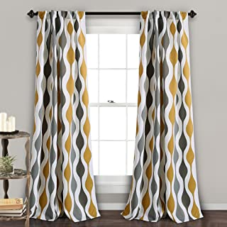 grey and gold curtain panels