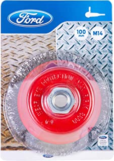 Ford Tools M14 Cup Brush Twisted Steel Wire, 100 mm, FPTA-02-0024
