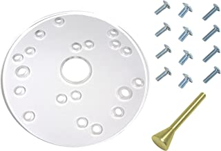 Taytools 300005 Universal Router Base Plate, 6-1/2 Inch Diameter, 5/16 Inch Thick, Fits most 1-2 HP Porter Cable, Ryobi, Bosch, Makita, Sears, Fein, Milwaukee, Freud, Hitachi, Elu and Dewalt Routers