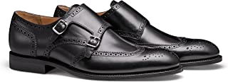 MORAL CODE The August: Men's Leather Double Monk Strap Brogue Wingtip Dress Shoe