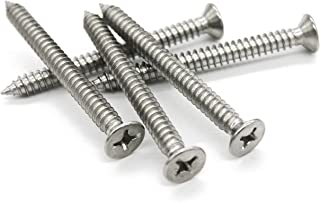 - A2 Stainless Steel 100pc 12.5mm No.4 X 1//2 Inch 2.9mm - DIN 7982C H Phillips AB Self Tapping Countersunk Screws