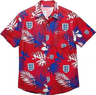 Football Club Tropical Short Sleeve Button Up Summer Floral Shirt Premier League