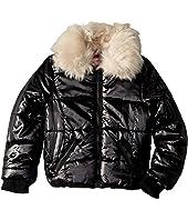 Emma Puffer Jacket w/ Cream Faux Fur Collar (Little Kids/Big Kids)