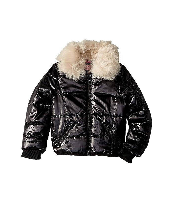 79e83efbc Urban Republic Kids Emma Puffer Jacket w/ Cream Faux Fur Collar ...
