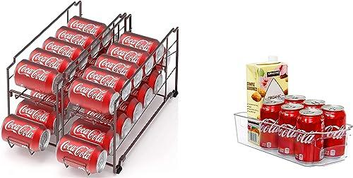 lowest SimpleHouseware online sale Stackable Beverage Can Dispenser + Kitchen new arrival Organizer Bin sale