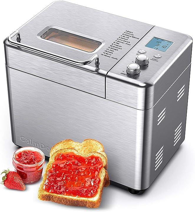 Macchina per il pane in acciaio inossidabile spazzolato calmdo CD-BM1KG-EU