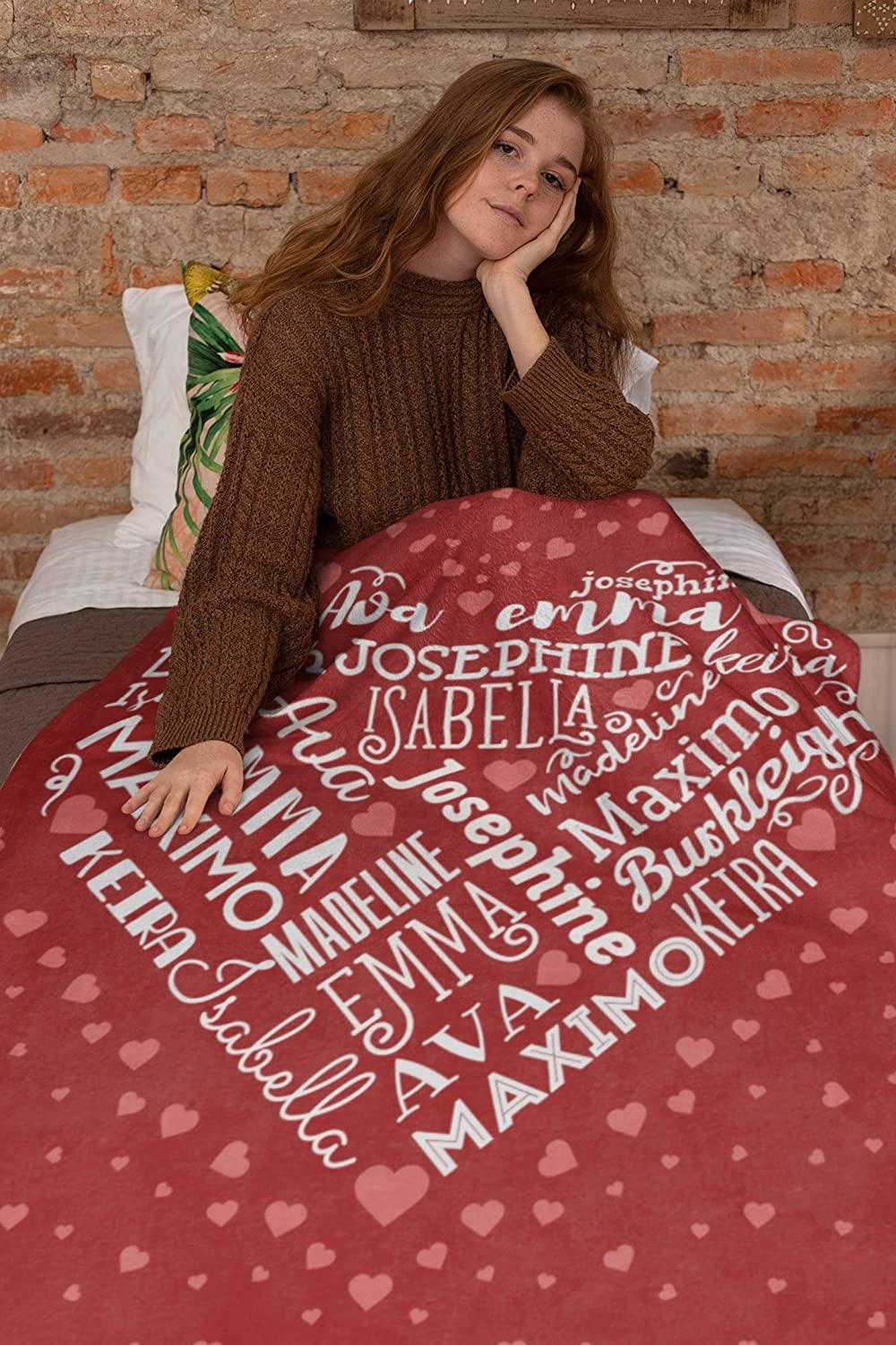 Personalized Name 訳あり品送料無料 Blanket for Your Custom Throw 授与 Family
