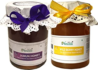 Farm Naturelle-100% Pure Raw Natural Jamun Forest Honey And Wild Berry (Sidr) Forest Honey (815 Grams X 2 Packs)-Delicious And Healthy