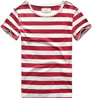 Mens Stripes T-Shirts Casual Slim Fit Tshirts Striped Tees Top