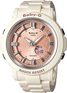 Casio Women's BGA300-7A2 Baby G White and Rose Gold Watch