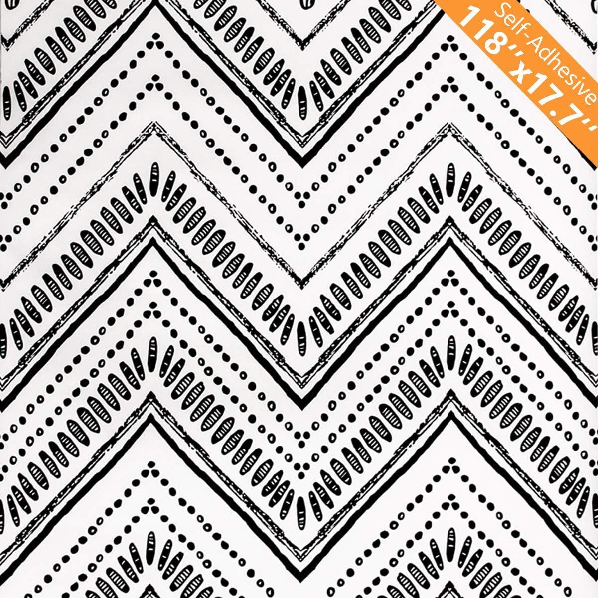 MulYeeh 17.7'' Ranking TOP20 x 118'' Peel Detroit Mall and Circle Ov Wallpaper Modern Stick