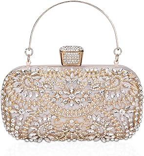 FIVE FLOWER Crystal Clutch for Women Rhinestone Evening Bag