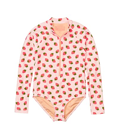 crewcuts by J.Crew Strawberry Rashguard Suit (Toddler/Little Kids/Big Kids) (Pink/Red) Girl