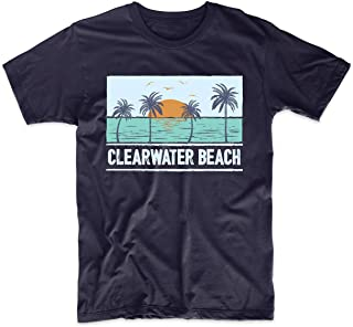Retro Clearwater Beach Florida Tropical Sunset Vacation T-Shirt