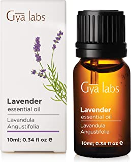 Bulgarian Lavender Essential Oil for Diffuser, Skin, Hair Growth and Aromatherapy (10ml) - 100% Pure Therapeutic Grade - Gya Labs