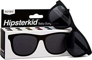 Hipsterkid BPA Free, Warranty Protected, Polarized Sunglasses for Babies, Ages 0-2, in Classic Black