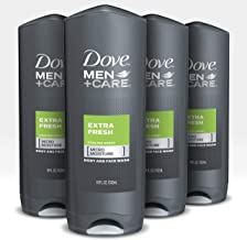 Dove Men+Care Body Wash and Shower Gel Extra Fresh 18 oz 4 Count Dermatologist Recommended Shower Gel and Bodywash Effecti...