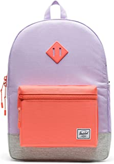 Herschel Heritage Youth X-Large Kid's Backpack, Lavender Light Grey Crosshatch/Fresh Salmon, One Size