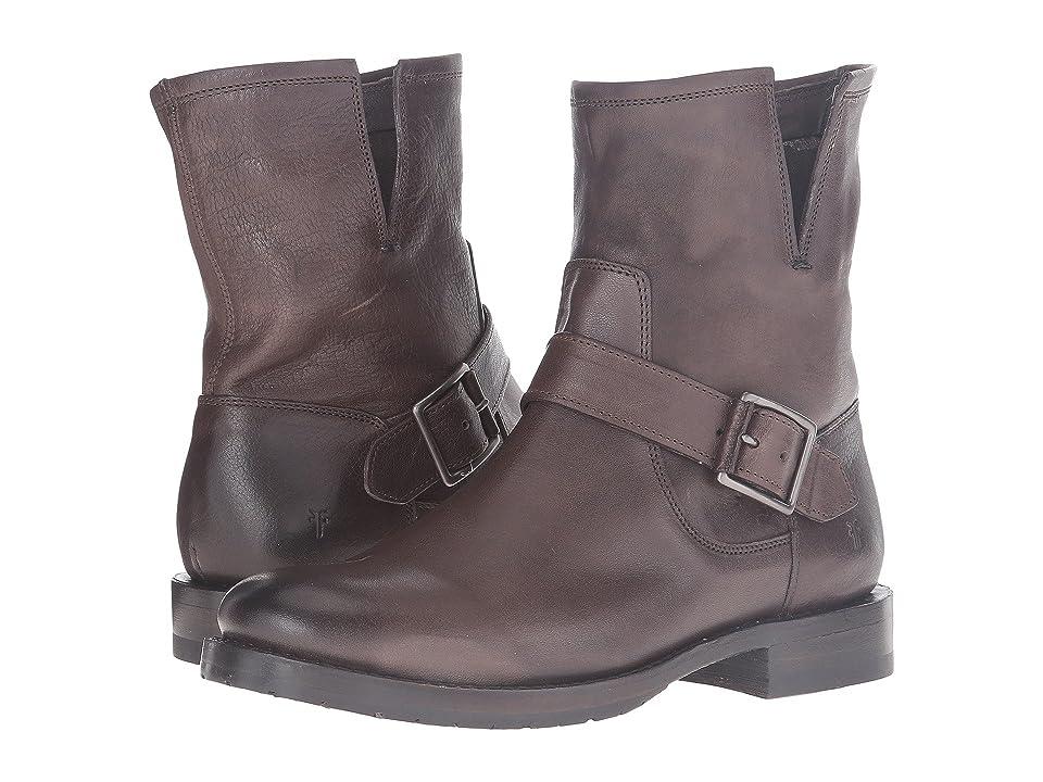 Frye Natalie Short Engineer (Charcoal Washed Vintage) Women's Boots