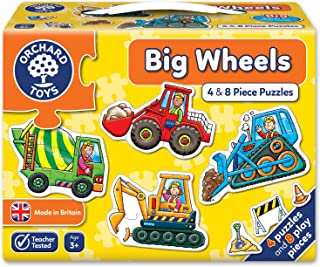 Orchard Toys Big Wheels Children's Jigsaw Puzzle, Multi, 4 x 8 Piece
