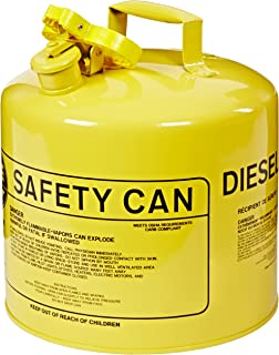 Eagle UI-50-SY Type I Metal Safety Can, Diesel, 12-1/2