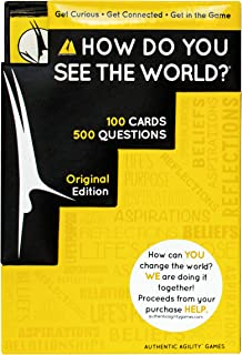 How Do You See The World. Ice Breaker Card Game to Encourage Open Discussion and Challenge Your Perspective - Includes Dic...