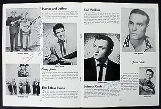 Johnny Cash, Sonny James & Harland Powell Signed 1956 Tour Program BAS #A03163 - Beckett Authentication