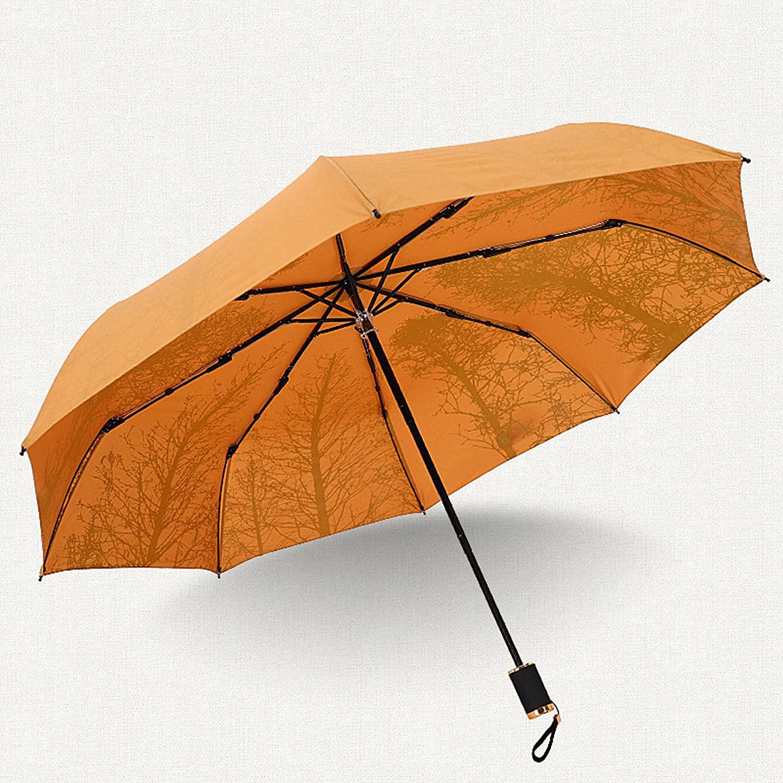 N\C Parasol Challenge the lowest price 8 Bone Black Rubber Umbrella Forest Birch San Jose Mall Retro Doub