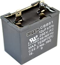 HQRP 12uf Refrigerator Capacitor compatible with GE WR62X79 JSU21X126 JSU21X126AOC JSU21X126AQC Replacement BCS42CKB CTH14CYXRLAD CTT21GAXLRWW CTX16CIZDLAD DTS18ICRFRWW ESS25KSTFSS FCM5DMCWH