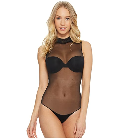 Mock Spanx Neck Negro Muy Body qZ84d58
