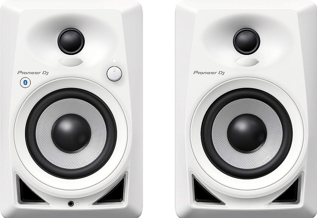 Casse pioneer dj, dm-40bt-w, coppia di monitor bluetooth, bianco