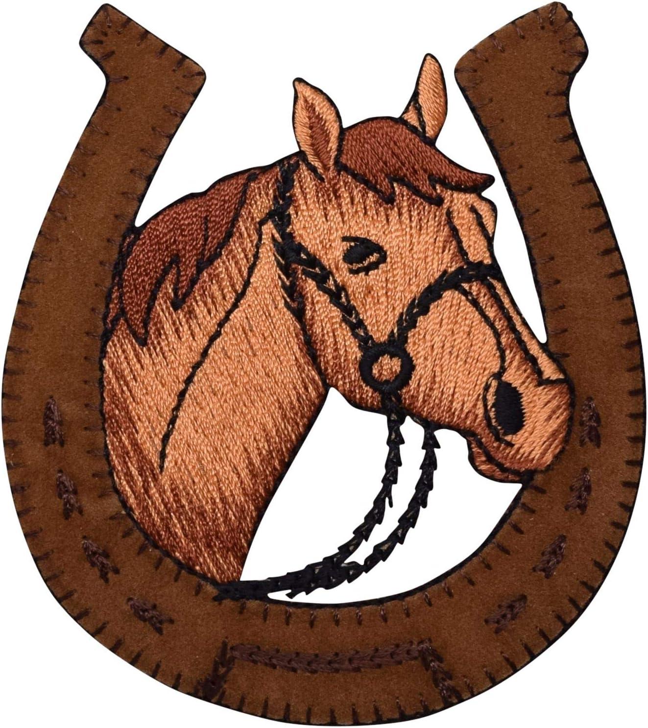 Iron on Shoshone Patch Headdress and Horse