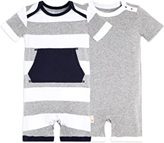 Baby Boys Short Sleeve Rompers, 100% Organic Cotton...