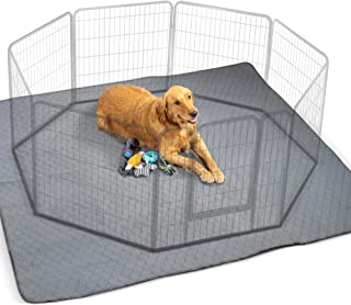 """Waterproof XXL Puppy Whelping Pad 72""""x72"""" - Our Washable Super Absorption Pee Pad is Perfect for Your Exercise Playpen Or Whelping Box - The Durable Non Slip Floor Mat for Dogs"""
