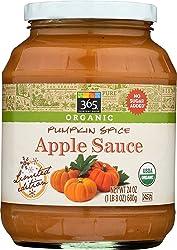 365 Everyday Value, Organic Apple Sauce, Pumpkin Spice, 24 oz