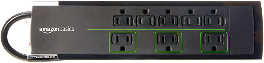 AmazonBasics 8-Outlet Power Strip Surge Protector | 4,500 Joule, 6-Foot Cord