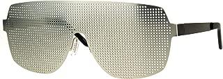 Disco Mesh Shield Lens All Metal Futuristic Robotic Sunglasses
