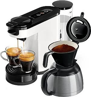 Senseo HD6592/00 - Cafetera (Independiente, Máquina de café en cápsulas, 1 L, De café molido, 1450 W, Negro, Blanco)