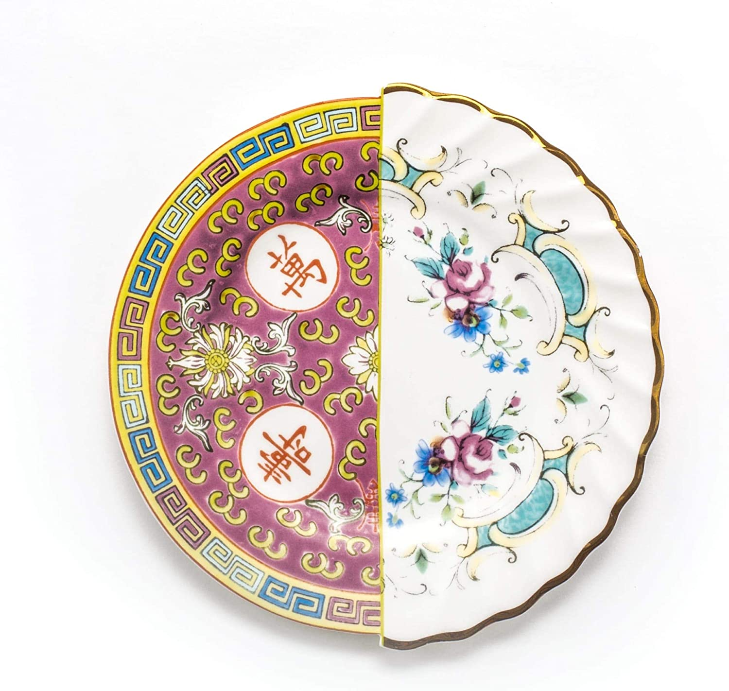 Seletti Hybrid - Classic Sales of SALE items from new works Dessert Eudossia plate Multicolor