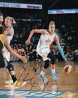 ELENA DELLE DONNE signed (CHICAGO SKY) WNBA basketball 8X10 photo W/COA *MYSTICS - Autographed WNBA Photos