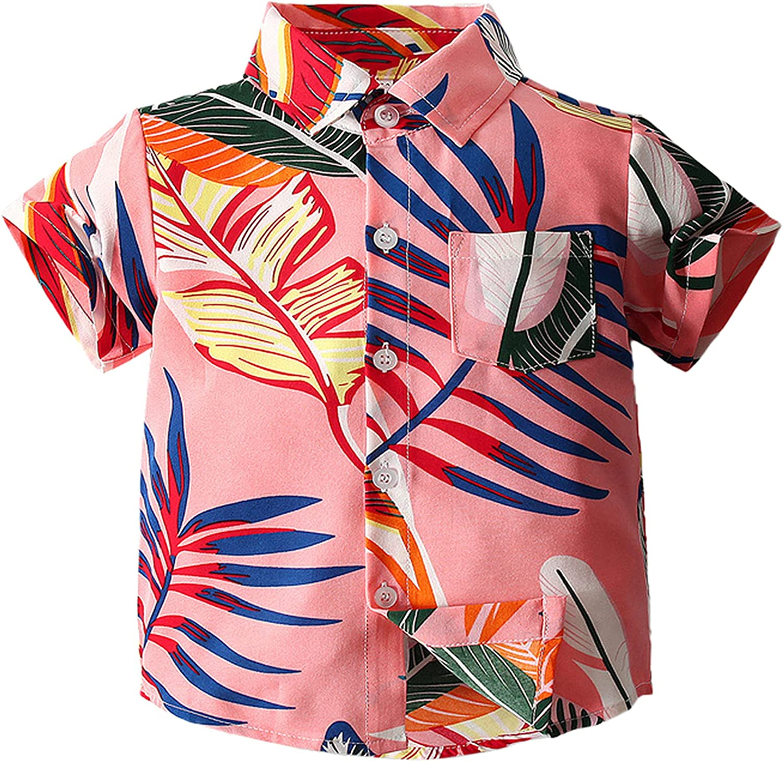 QZH.DUAO Baby Boys Fun Print Short Sleeve Polo Shirts, 9 Months - 6 Years