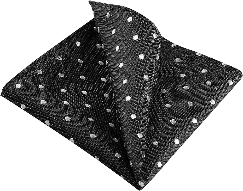 Allegra K Men's Self Folded Polka Dots Pocket Squares Handkerchiefs for Wedding Business
