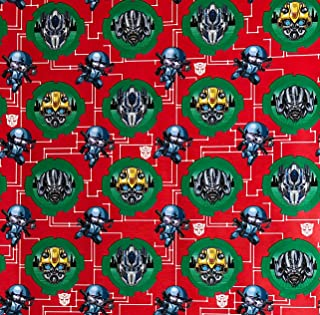Transformers Bumblebee & Squeaks Wrapping Paper Gift Wrap (3.33 Feet Wide - 70 Sq Feet)