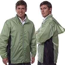 Totes TMP500 Men's Packable Rain Jacket Green with Black