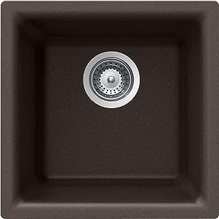 Houzer E-100 MOCHA Quartztone Series Granite Dual Mount Bar/Prep Sink, Mocha