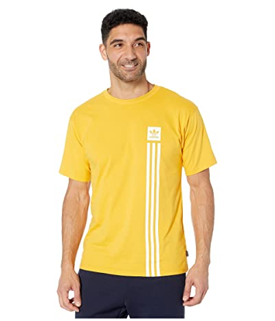 adidas Skateboarding BB Pillar Tee (Active Gold/White) Men
