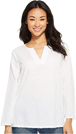 Fray Edge Bell Sleeve Popover